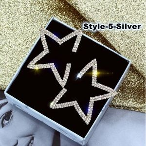 Jewelry - 925 Silver Filled Star Sapphire Fashion Earrings
